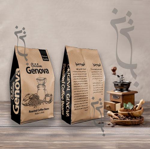 بسته بندی قهوه جنوا شاخص