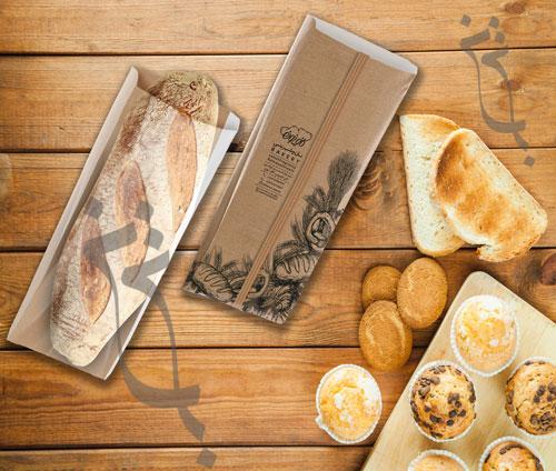بسته بندی نان و شیرینی کافه نان شاخص